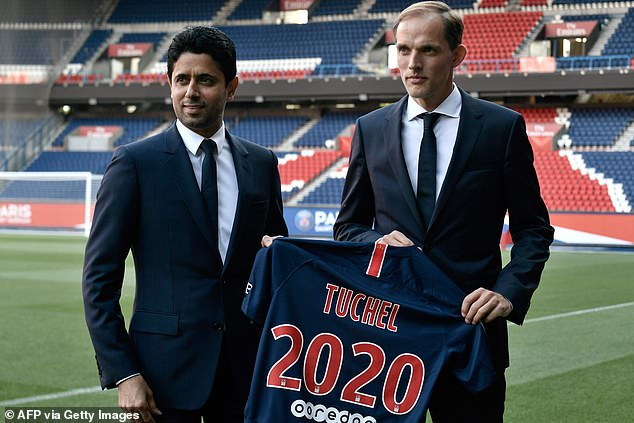 Paris Saint-Germain President Nasser Al-Khelaifi (left) praised