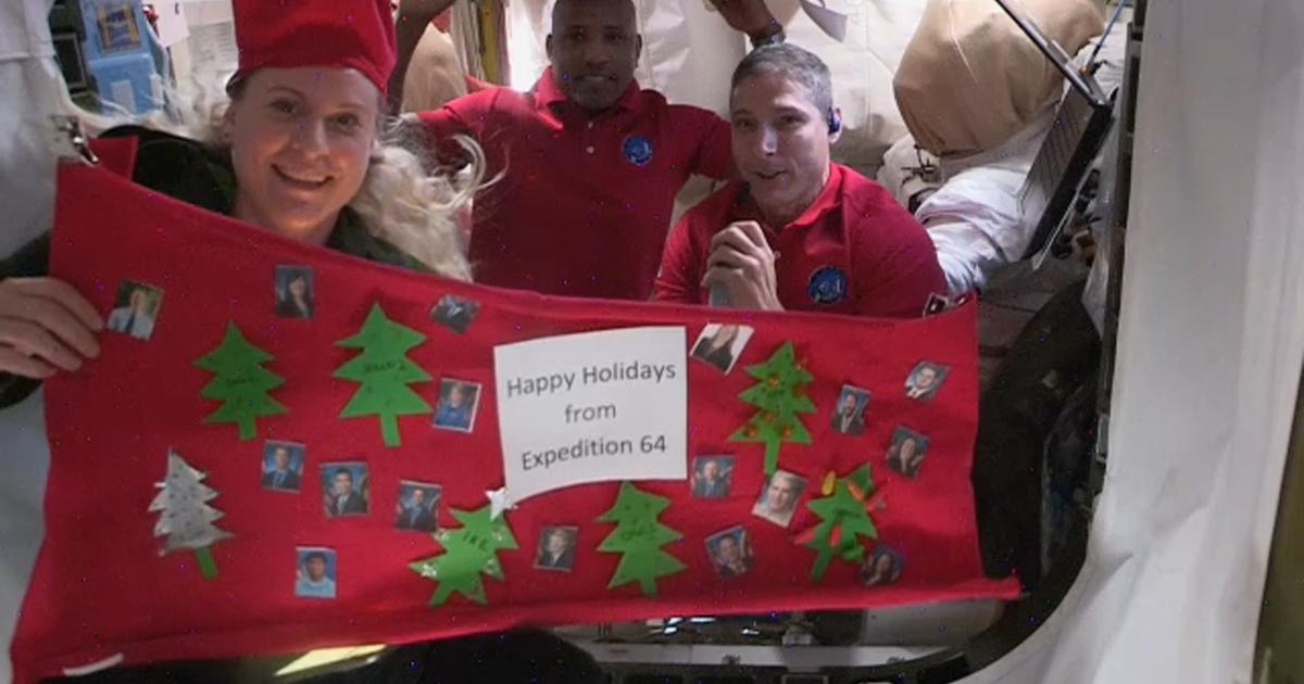 Astronauts send a Christmas message of hope to Earth from the International Space Station