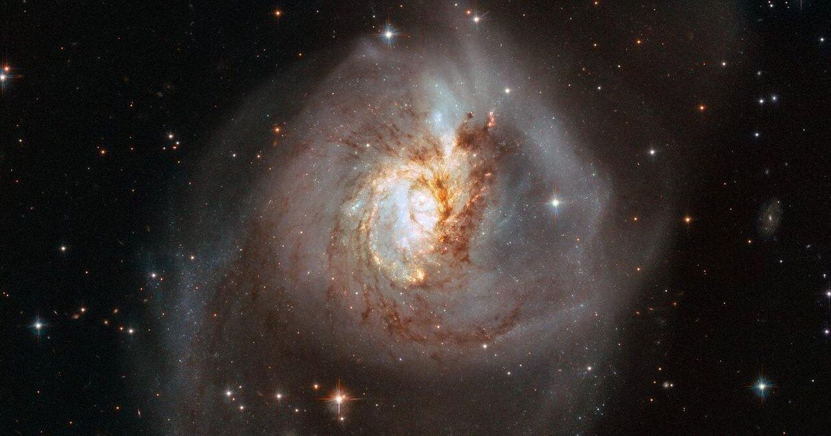 The Hubble Telescope provides spectacular views of the collision of six different galaxies