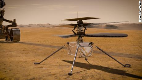A engenhosidade será o primeiro helicóptero a voar em Marte
