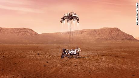A nave espacial persistente pousou com sucesso em Marte e enviou de volta suas primeiras fotos