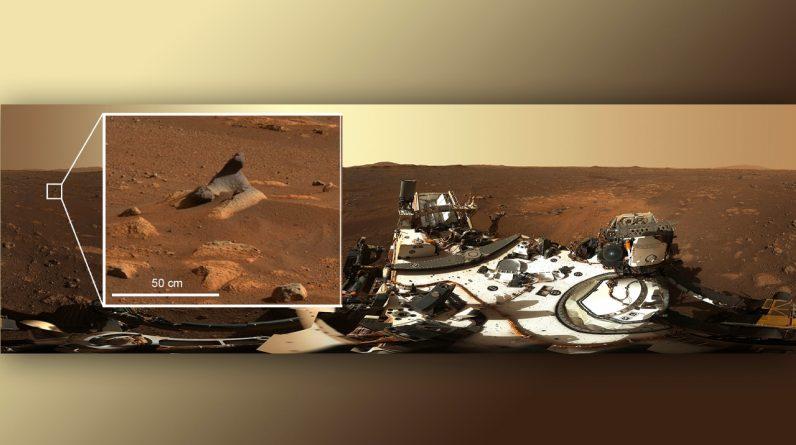 A sonda itinerante da NASA está enviando seu primeiro panorama de alta resolução de Marte