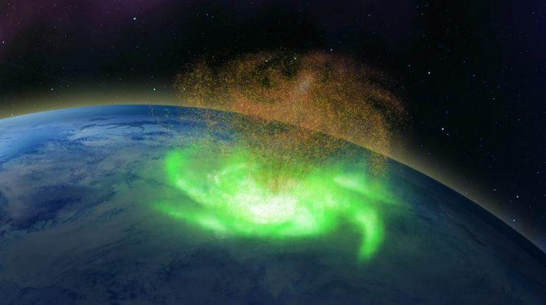 """Um """"furacão espacial"""" que despejou elétrons foi observado pela primeira vez"""