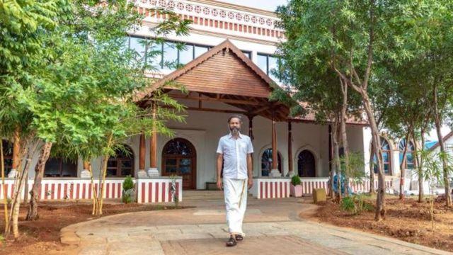 Sridhar em sua casa