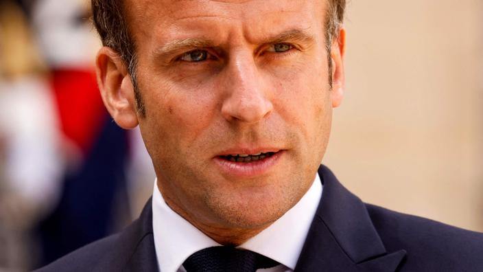 Emmanuel Macron, le 29 avril dernier dans la cour de l