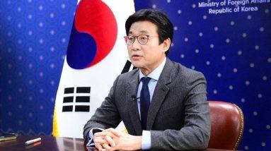 Le deuxième vice-ministre des Affaires étrangères, Choi Jong-moon, participe à un forum international virtuel sur le multilatéralisme. (Photo fournie par le ministère des Affaires étrangères. Revente et archivage interdits)