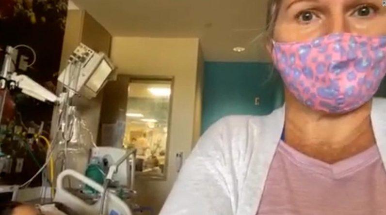 Uma mãe da Flórida mora na UTI de sua filha adolescente há dias, rezando para ter sobrevivido à Covid-19