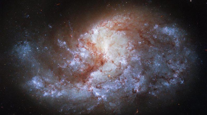A NASA diz que o telescópio Hubble capturou uma galáxia espiral brilhante como uma joia e a 68 milhões de anos-luz da Terra.