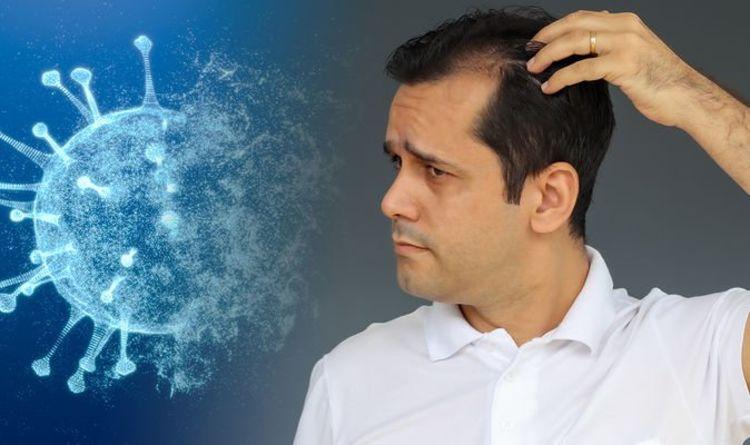 O médico diz que a queda de cabelo ocorre meses após a infecção por Covid - um sintoma da doença prolongada de Covid