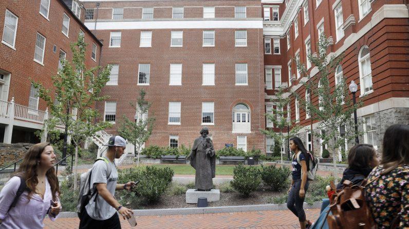 Georgetown diz que duas amostras detectam o norovírus na comunidade do campus e quase 100 apresentam sintomas