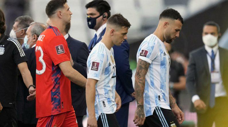 Suspensão da partida de futebol entre Brasil e Argentina em São Paulo