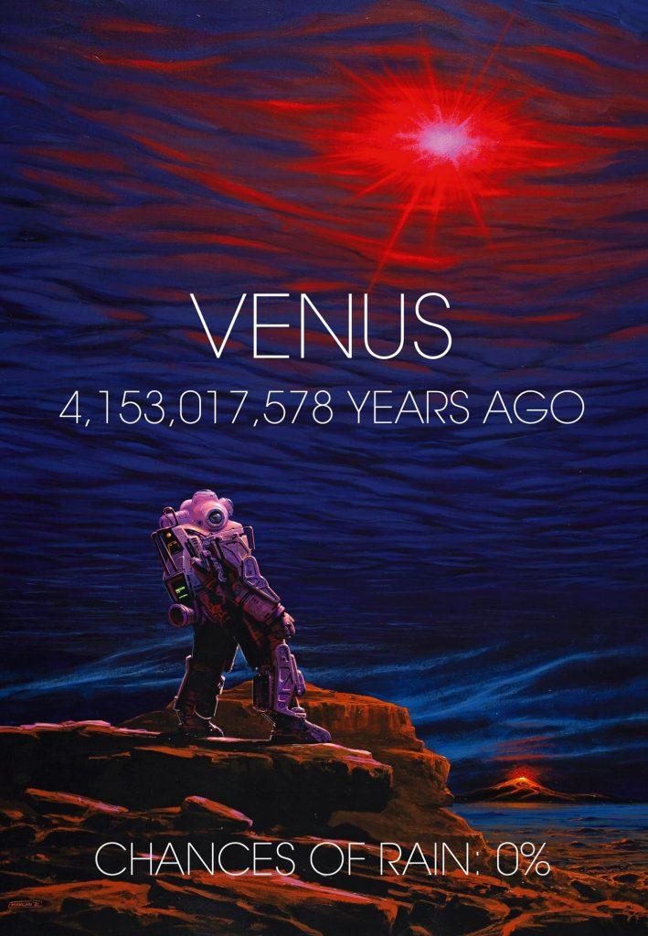 Superfície e atmosfera iniciais de Vênus