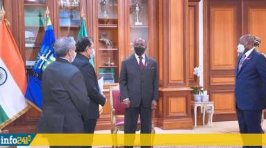 Três novos embaixadores do Brasil, França e Índia são credenciados no Gabão